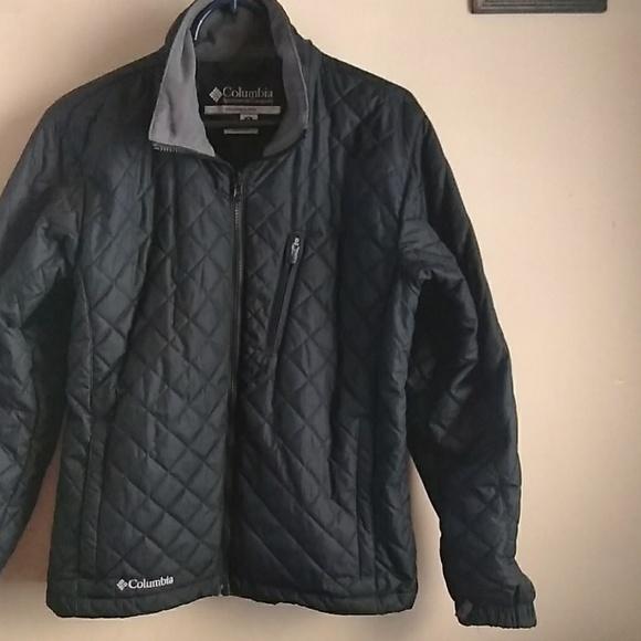 Columbia Jackets Coats Hp Black Quilted Jacket Womens Medium
